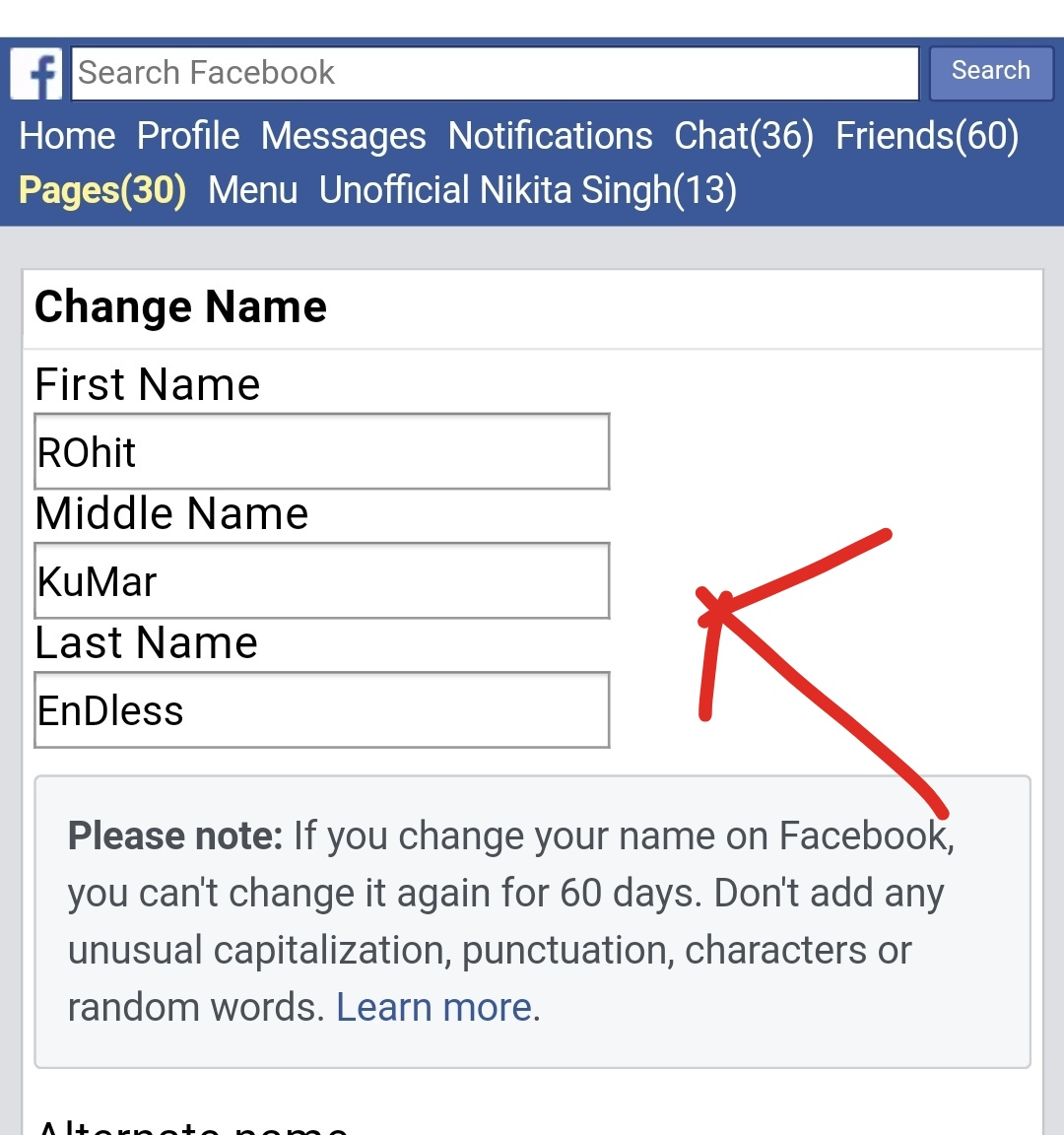to wear - Middle stylish name facebook video