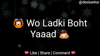 Wo Ladki Bahut Yaad Whatsapp Status Love Video