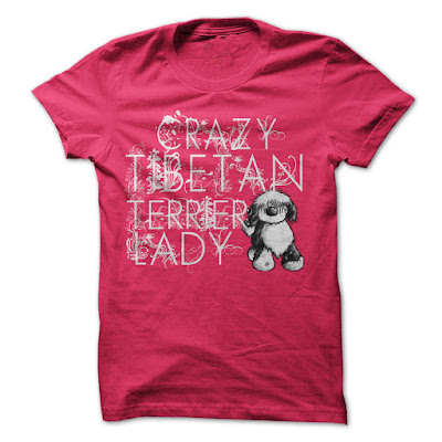 Crazy Tibetan Terrier Lady T Shirts