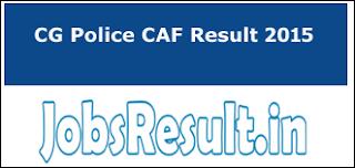 CG Police CAF Result 2015