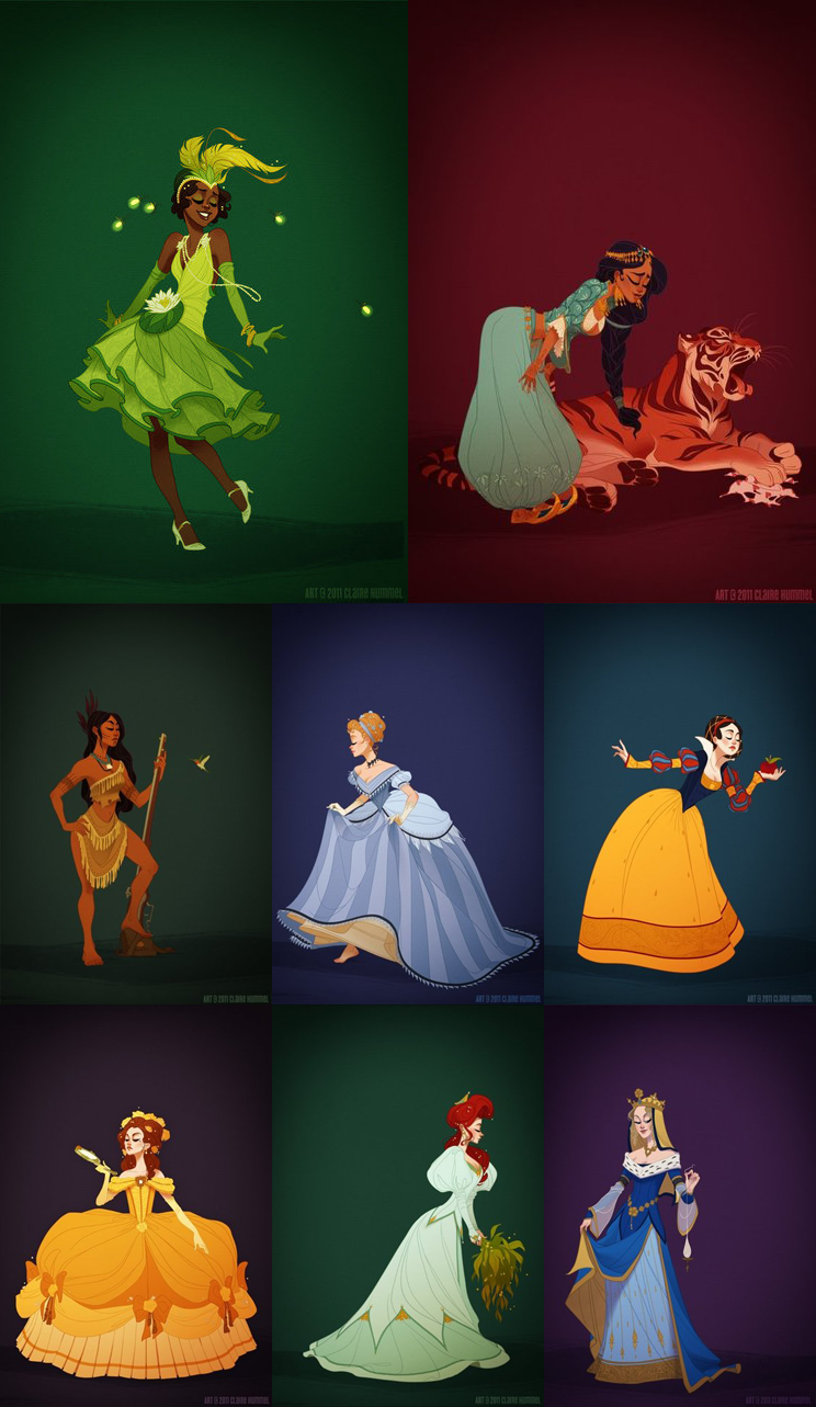 The Backrow Girl: Disney Princesses Reimagined