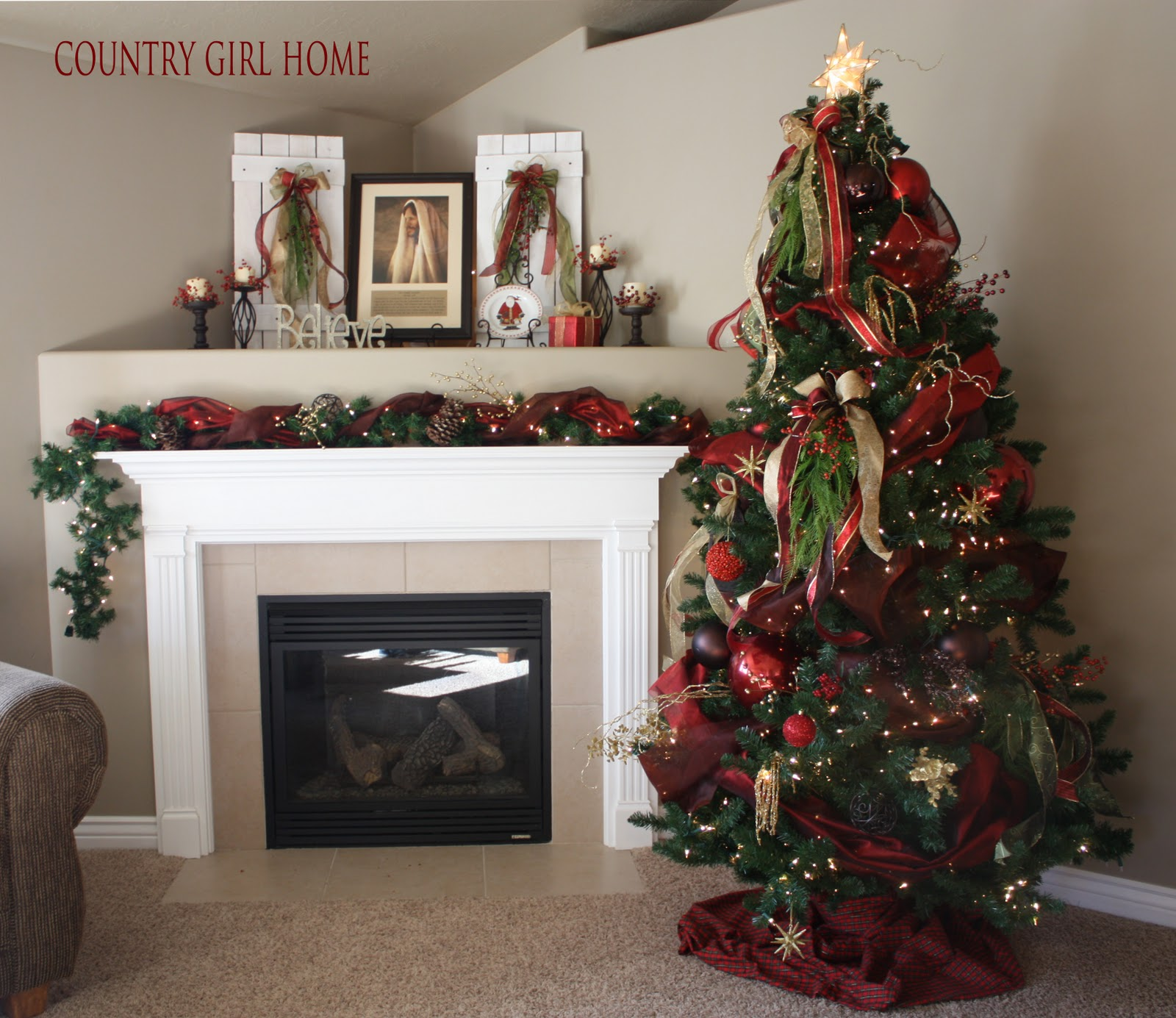 Awesome Country Girl Home More Christmas Interior Design Ideas Oxytryabchikinfo