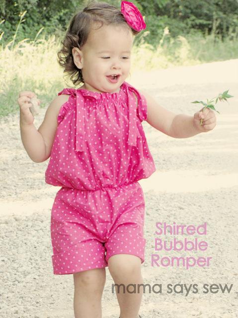 Mama Says Sew Shirred Bubble Romper