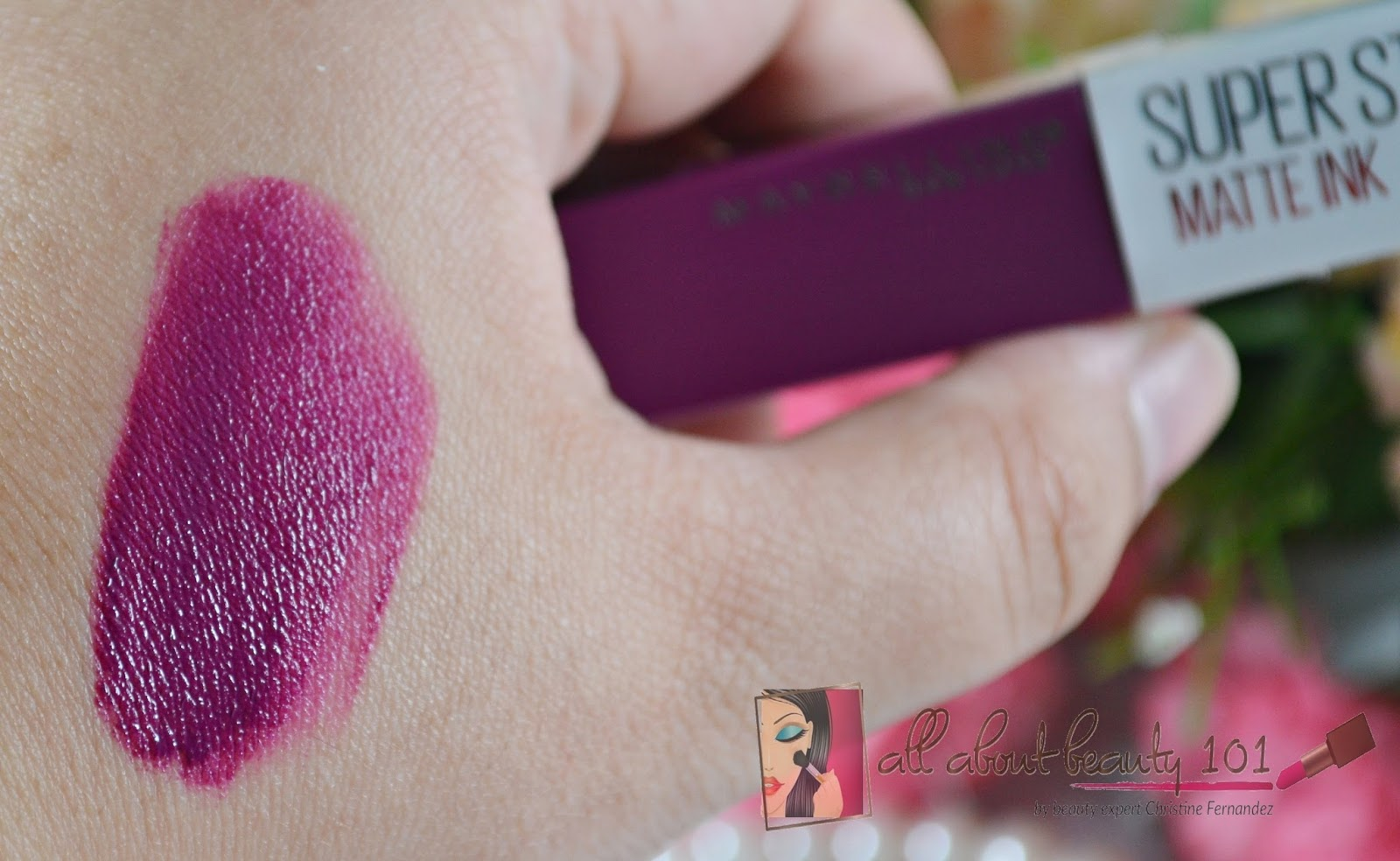 Maybelline Super Stay Matte Ink In Believer All About Beauty 101 Swatch