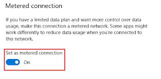 Mengaktifkan Fitur Metered Connection