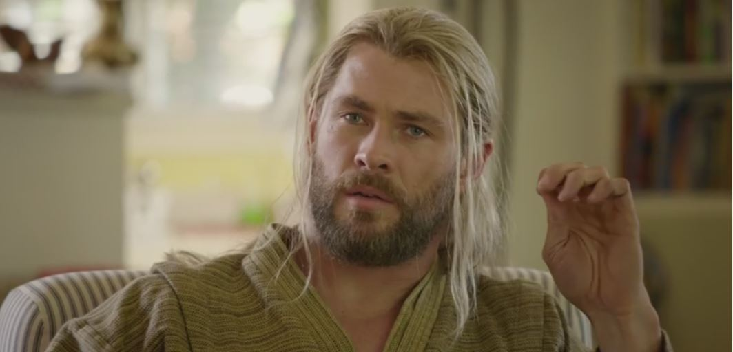Chris Hemsworth Thor is bored
