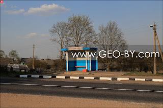 Автобусная остановка в Сутьково