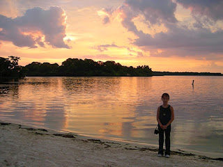 sunset on the beach at ft. wilderness resort