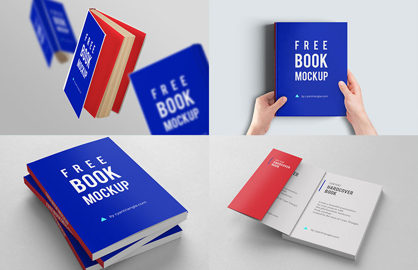 80+ Free Book Cover Mockup Templates | Graphic Design Resources