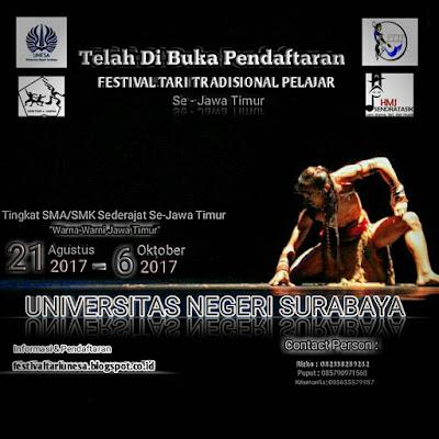 Festival Tari Tradisional Pelajar | Univ. Negeri Surabaya | SMA Sederajat