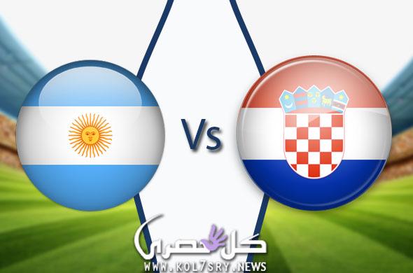 نتيجة مباراة الارجنتين وكرواتيا