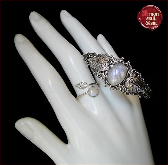 pierre de lune bijoux bijouterie elfique elven moonstone jewels jewellery