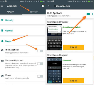 App lock magic trick use hindi