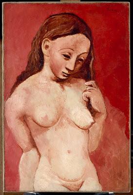 Picasso - Nu sur fond rouge,1906.