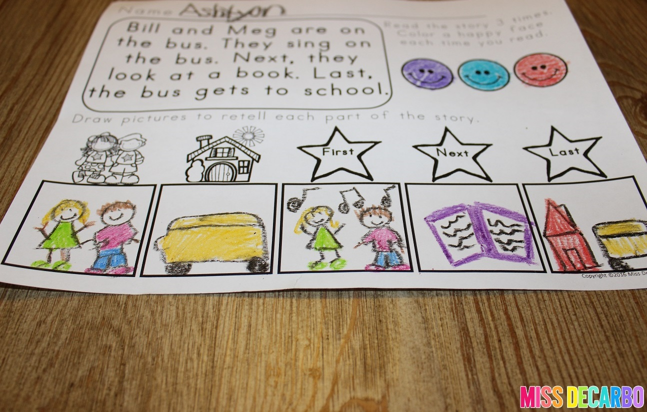 3 Ideas To Increase Retelling Skills In Young Readers - Miss DeCarbo [ 824 x 1294 Pixel ]