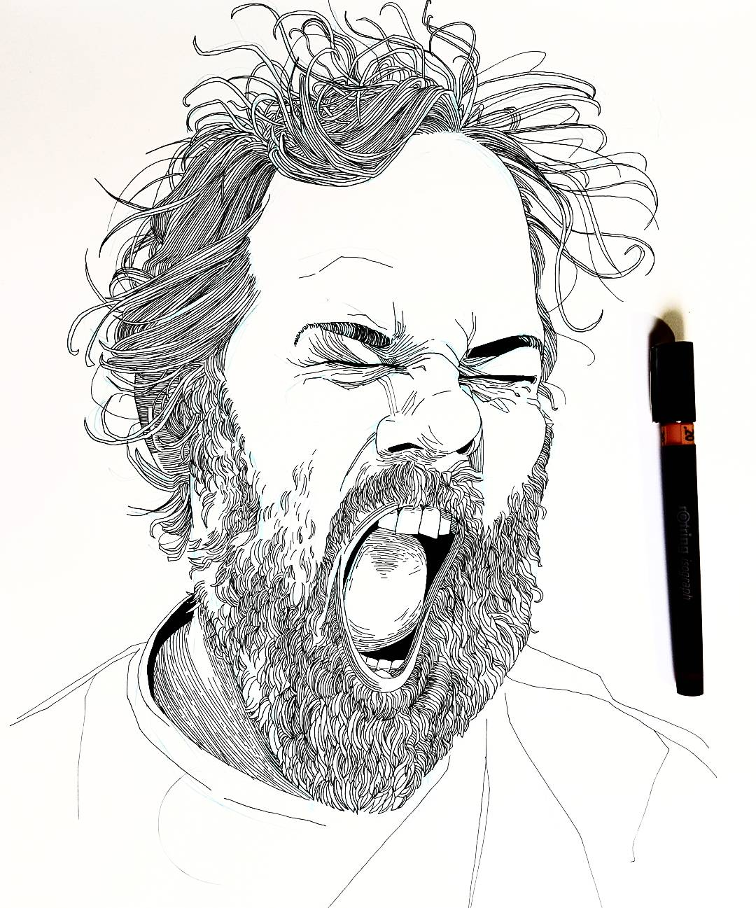 Dan Harmon portrait illustration