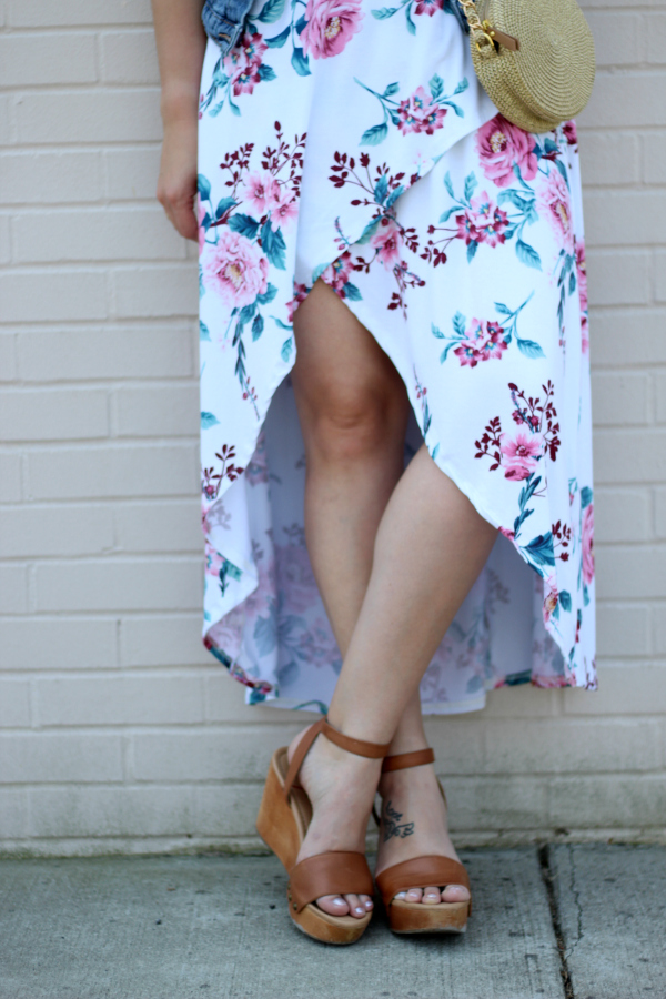 purehearts boutique, how to style a floral maxi dress, style on a budget, spring style