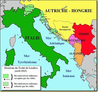 Terres irrédentes promises à l'Italie