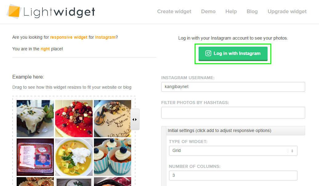 Mudah Menambahkan widget Instagram pada Blog