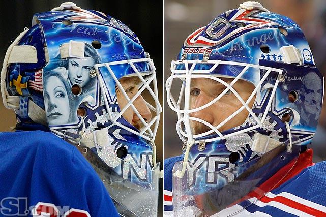 Henrik Lundqvist 2012-13 Mask. Henrik Lundqvist of the New York Rangers ... 52e9b00dc