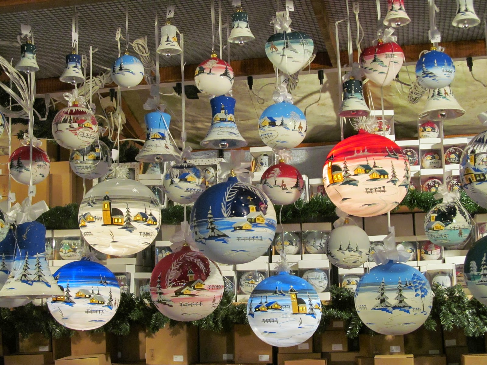 hand decorated christmas baubles