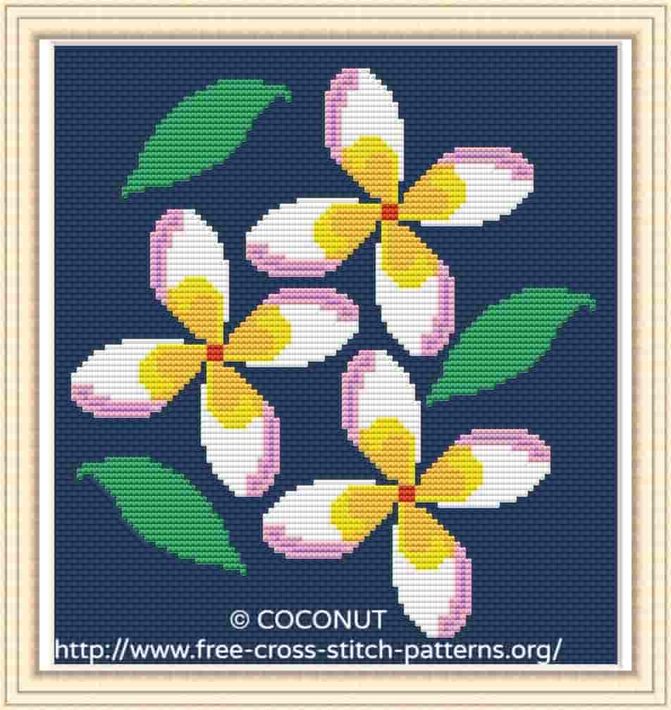 Flower 13 Free And Easy Printable Cross Stitch Pattern Free Cross Stitch Pattern