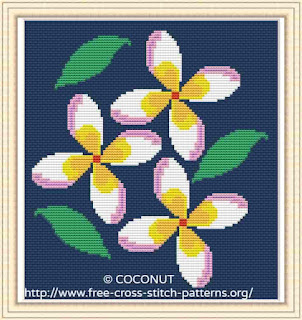Flower (13) , Free and easy printable cross stitch pattern