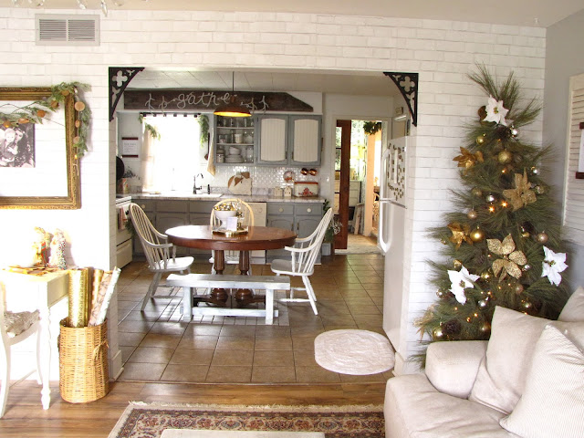 vintage eclectic christmas living room
