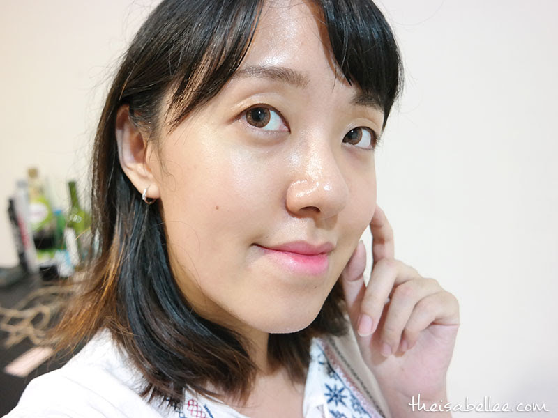 Results after using SEP Tangerine Brightening Mask