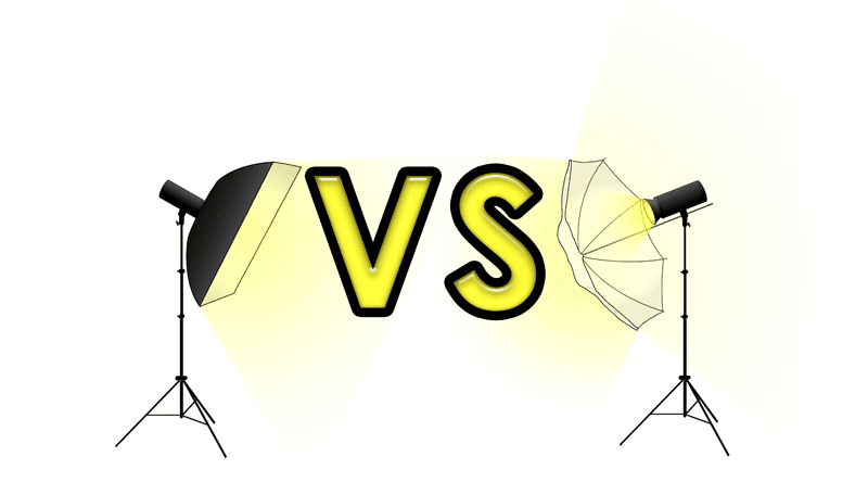 Softbox vs paraguas