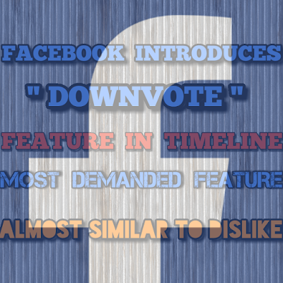 Facebook Downvote option in FB Page