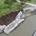 Bagong gawang river revetment na proyekto ni Robredo, nag collapse