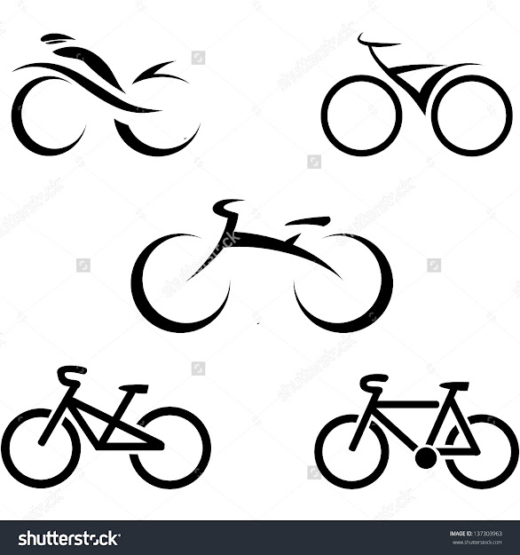 Stylized Bicycle Vector Illustration
