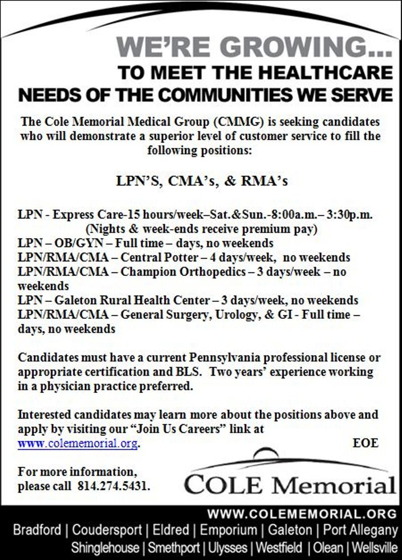 Solomons words for the wise cole memorial medical group seeking lpns cmas rmas for various positions xflitez Image collections