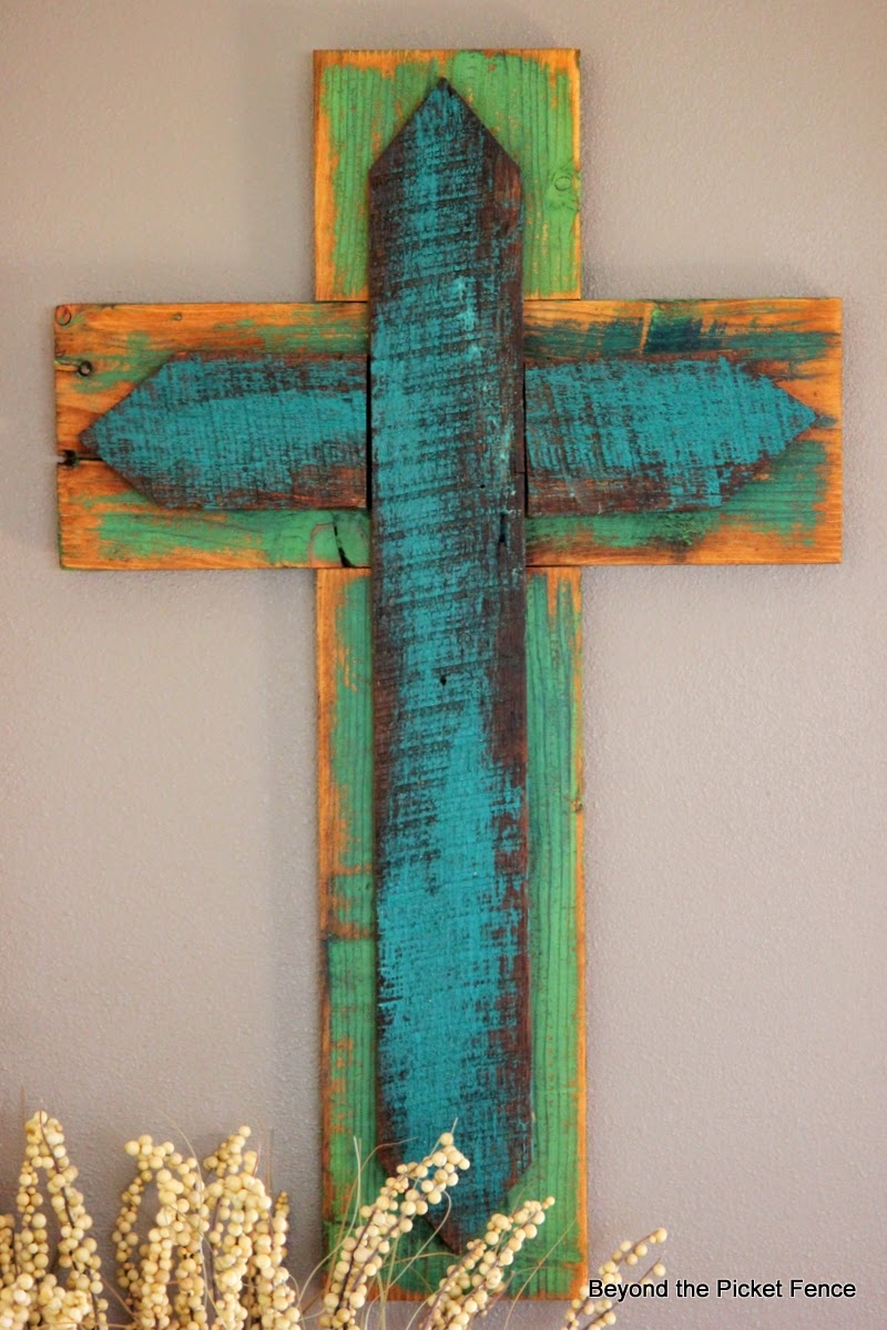 Beyond The Picket Fence Scrap Wood Cross