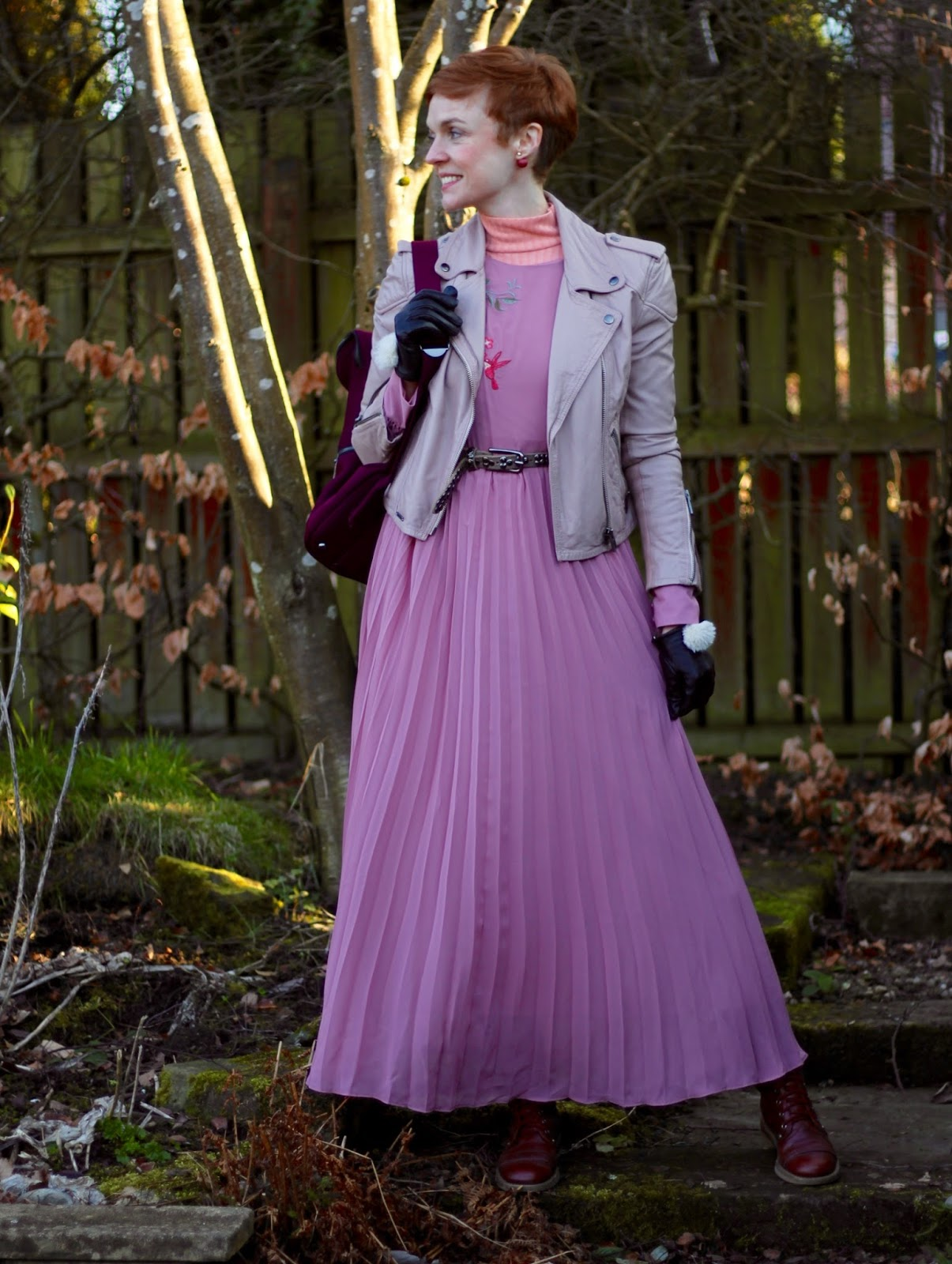 Pink Embroidered Maxi dress in Winter | Fake Fabulous