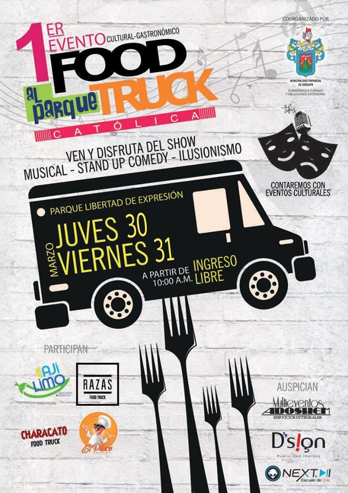 1er Food Truck al Parque Catolica - 30 y 31 de marzo