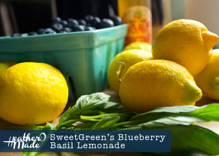 SweetGreen's Blueberry Basil Lemonade recipe