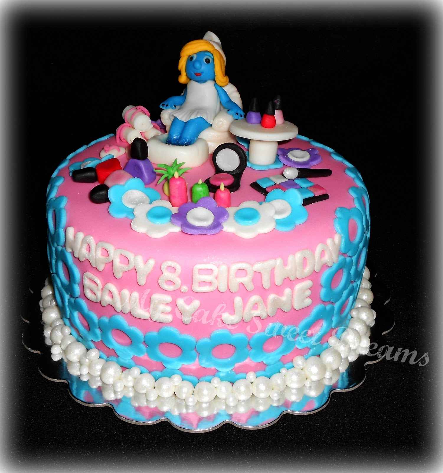 My Cake Sweet Dreams Spa Birthday Cake