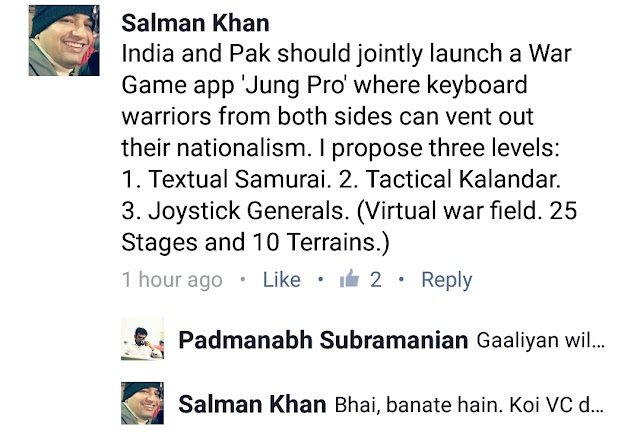 India Pakistan Keyboard Warriors