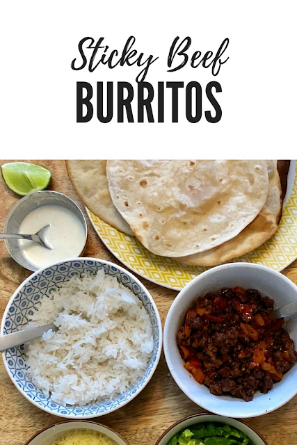 Monday Munchies: Sticky Beef Burritos