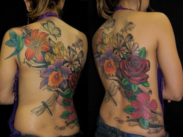 Tatuagem Feminina Grande Nas Costas