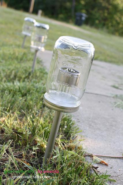 Green Owl Crafts Upcycled Mason Jar Solar Lights