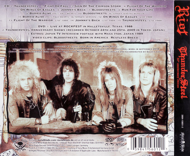 RIOT - ThunderSteel [30th Anniversary Edition remastered +6] (2018) back
