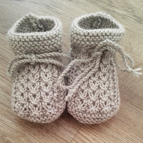 Little Eyes Baby Booties - Free Pattern