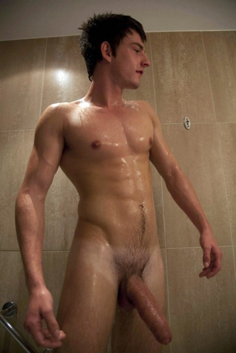 Wet And Hung Young Lad