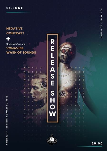 Negative Contrast, Vonavibe​, Wash Of Sounds: Σάββατο 1 Ιουνίου @ An Club