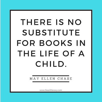 There is no substitute for books in the life of a child.