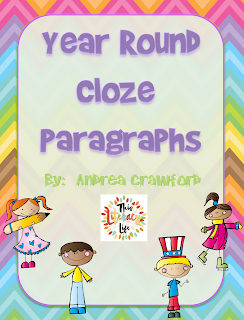 Year Round Cloze Paragraphs