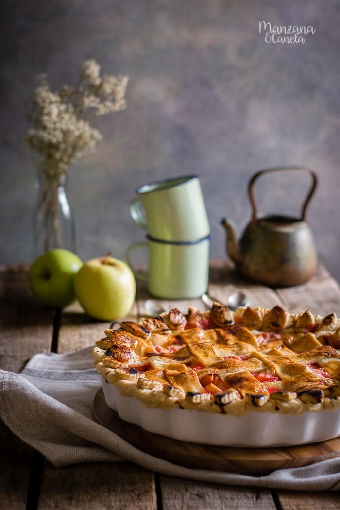 Pie de manzana y fresas. Receta con Mesura, sin azúcar refinado.